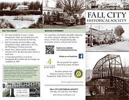 Fall City Historical Society brochure
