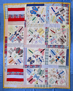 Quilt made in 1920s by Julia Harshman